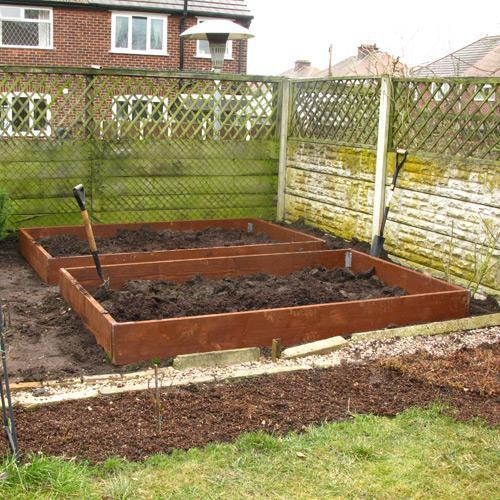 Raised Garden Bed Kit, Untreated Timber