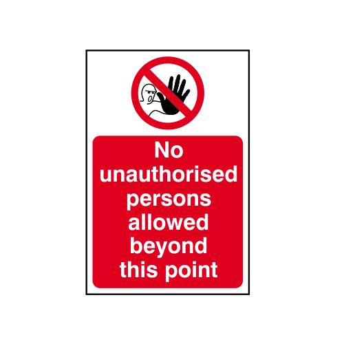 Fibreglass  No Entry Beyond This Point  Safety Signs 4 Less
