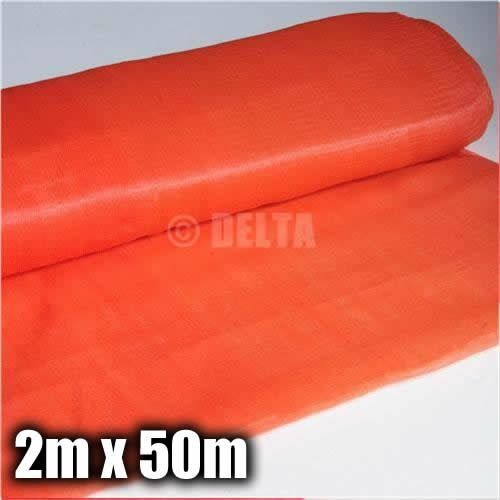 orange debris netting 2m x 50m 80gsm. Black Bedroom Furniture Sets. Home Design Ideas