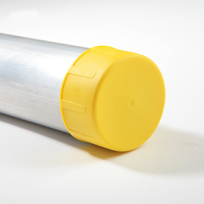 Tube end safety caps mm yellow pack