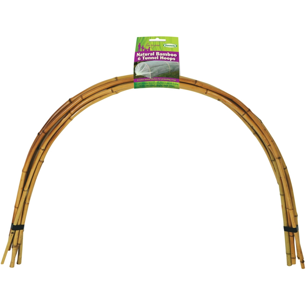 Natural Bamboo Tunnel Hoops 6 1m x 61cm from Scaffolding Direct