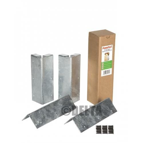 Heavy duty corner bracket kit 60x60x200mm - Raised garden bed corner brackets ...