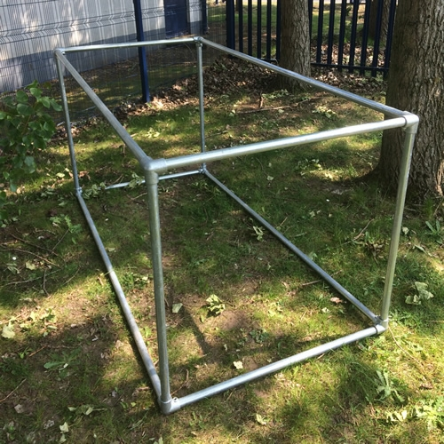 Fruit cage kit 1m x 2m x 1m for Schreibtisch 2m x 1m