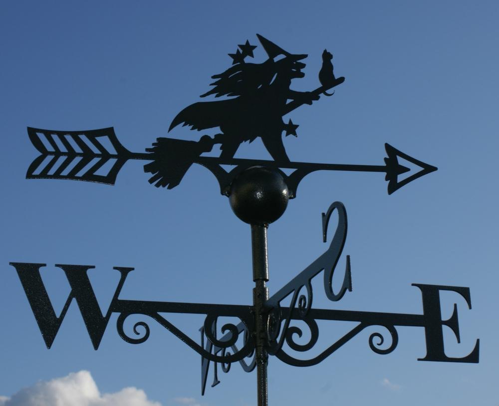 witch u0026 cat weather vane poppy forge - Weather Vanes