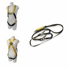 RidgeGear Scaffolders Twin Leg Safety Harness Kit RGHK4 Leather