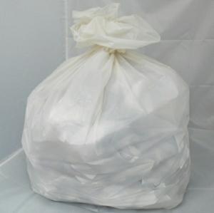 100 Medium Duty White Refuse Sacks - Bin Bags