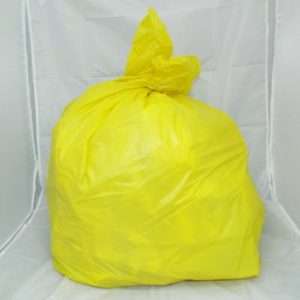 100 Medium Duty Yellow Refuse Sacks - Bin Bags