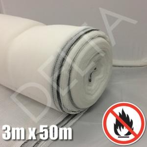 Flame Retardant Debris Netting - 3m x 50m White
