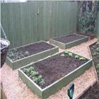 Raised Garden Beds Tanalised Timber - 3.0m (10ft) x 3.0m (10ft)